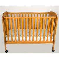Cot and Mattress (wooden)